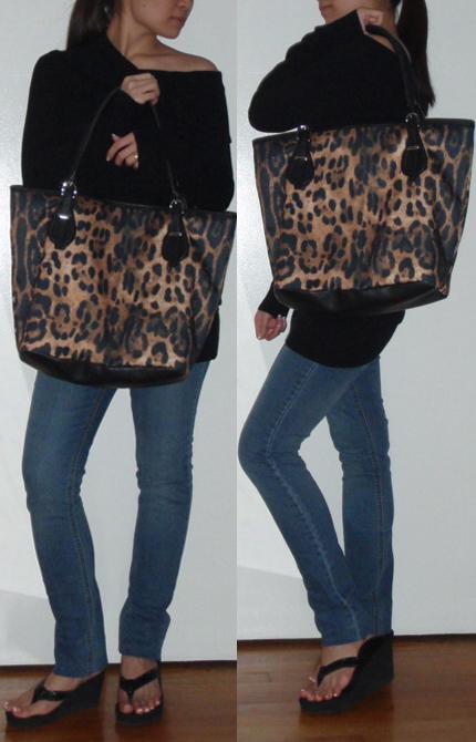NY&C Leopard Shopping Tote