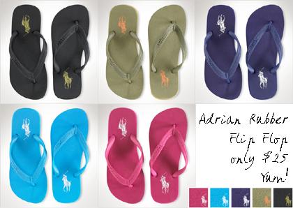 Adrian Rubber Flip Flops