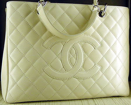 Chanel Grand Shopping Tote in White