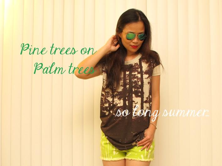 Pine Trees on Palm Trees