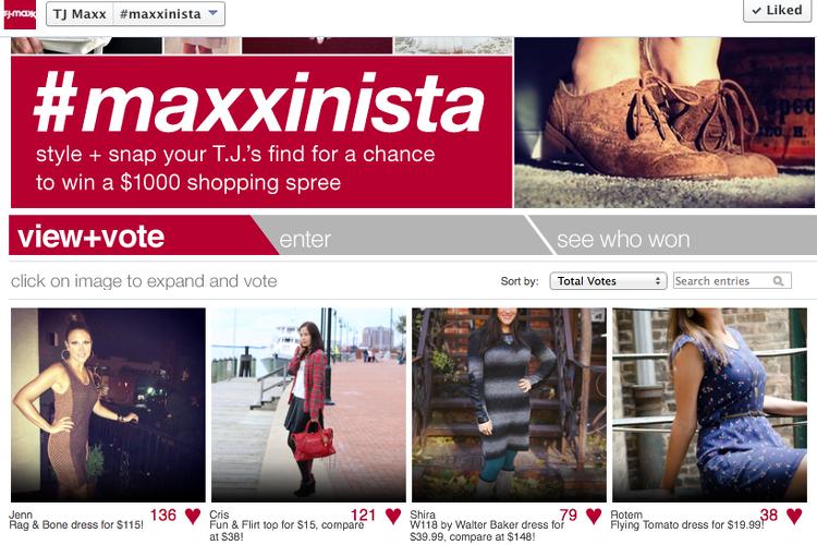 TJ Maxx Maxxinista Contest