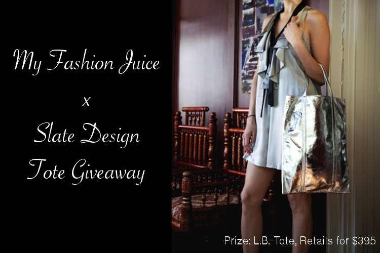 My Fashion Juice x Slate tote giveaway