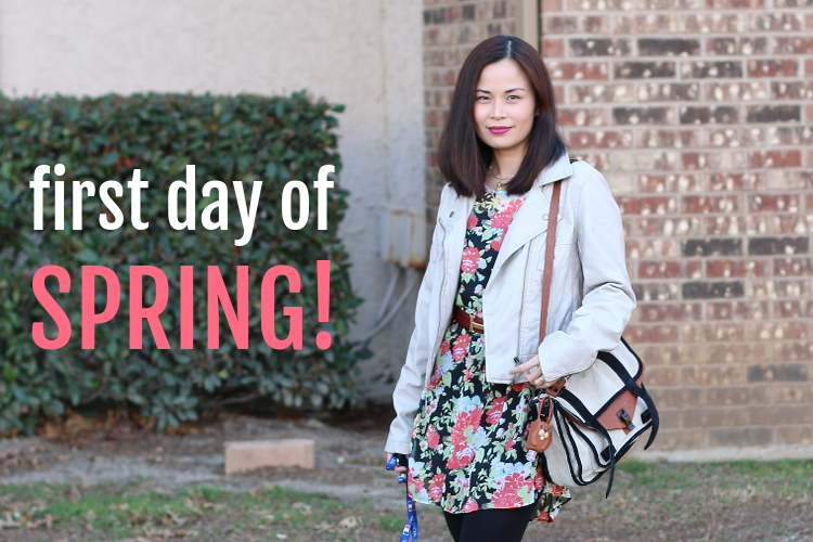 First Day of Spring Outfit, #OOTD, Lulus.com, Lulusdotcom, Outfit, fashion, style, floral, dress