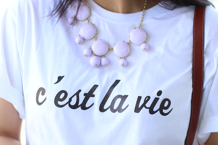 C'est La Vie, statement shirt, custom tee, statement tee, fashion, style, #OOTD, outfit