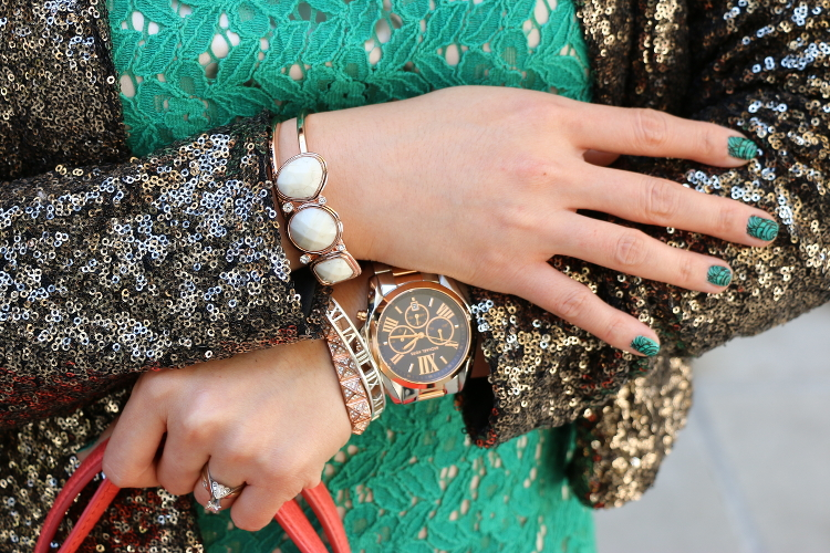 Emerald, Coral, Sequins, Bling, Aftershock London, outfit, #OOTD, SJP Event, Dallas, Nordstrom