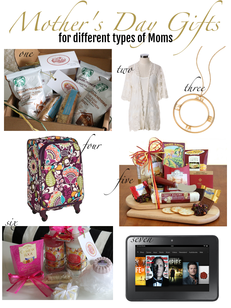 Mother's Day Gifts, different types of moms, gift guide for mothers day, gift ideas, mom's day, moms, california delicious