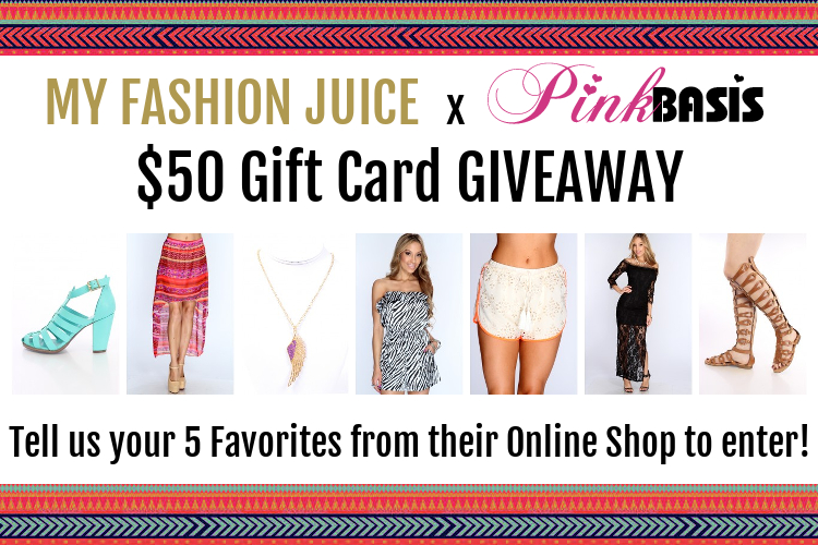 Pink Basis, My Fashion Juice Top 5 Picks, Giveaway