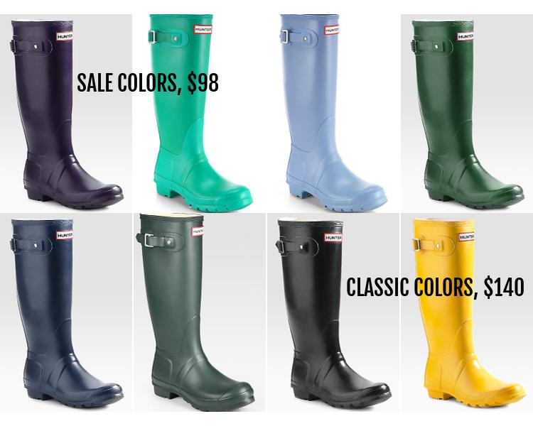 Sale, Hunter Boots, shoes, Saks Fifth Avenue