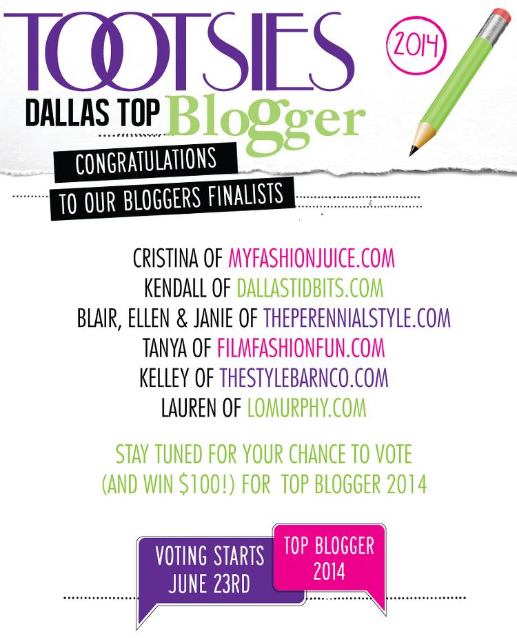 Tootsies Dallas, Top Blogger Contest, Dallas Top Blogger 2014