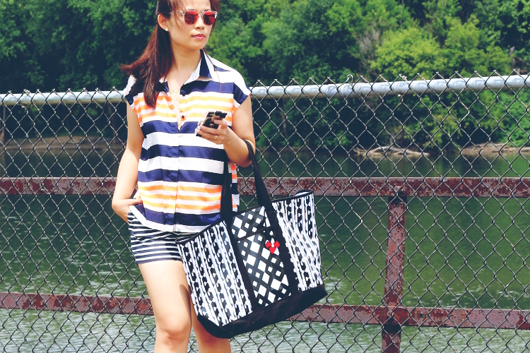 Double Stripes, Le Tote, J. Crew, Peter Pilotto for Target, Kenzo, Collective Concepts