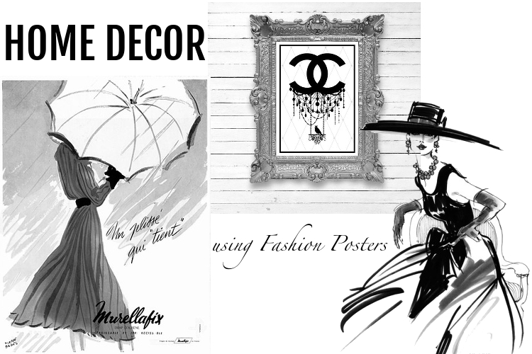 Fashion posters, home decor, wall art