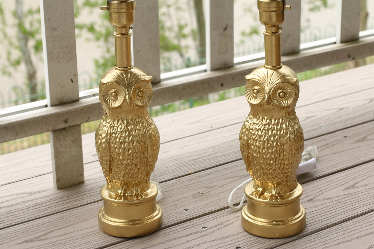 Gold accents, home, gold lamps, owl lamp, diy, decor, design