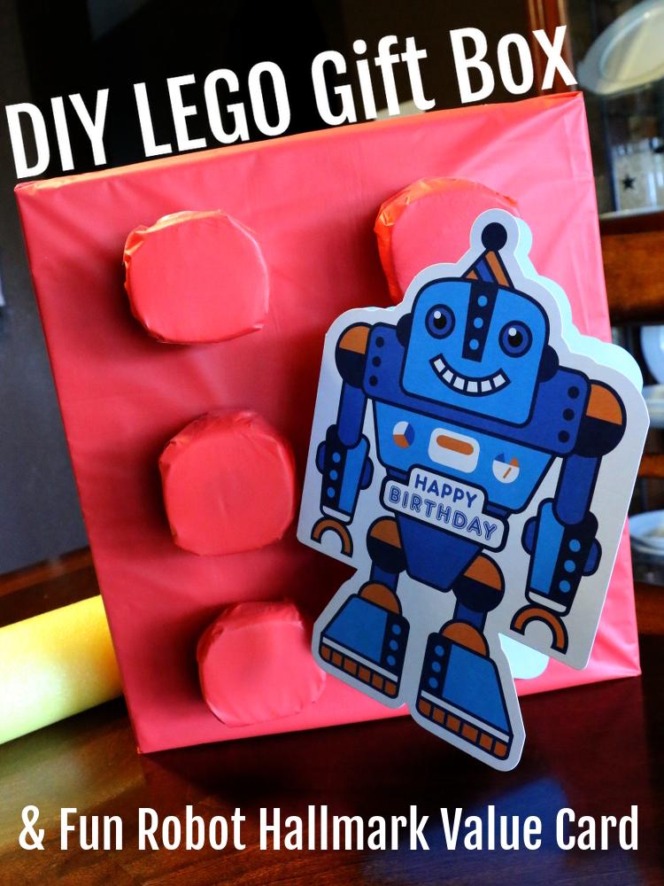 Hallmark, #ValueCards, greetings, gift wrap, robot, DIY lego gift box, Walmart, #shop, #cbias, #collectivebias