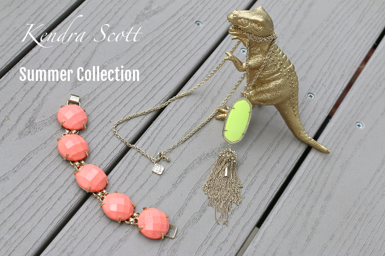 Kendra Scott, jewelry, summer collection, neon, Rayne necklace, yellow, salmon, Cassie bracelet