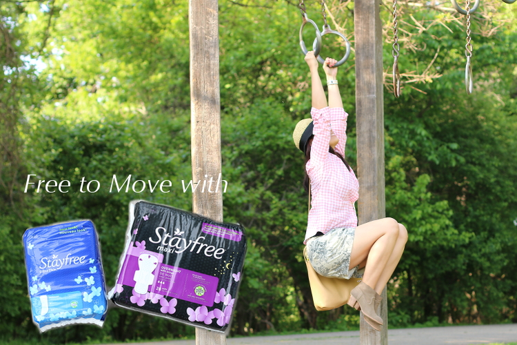 Made to move, #FreeToMove, Stayfree, pads, feminine care, period, monthly visit, Aunt Flo, women's health