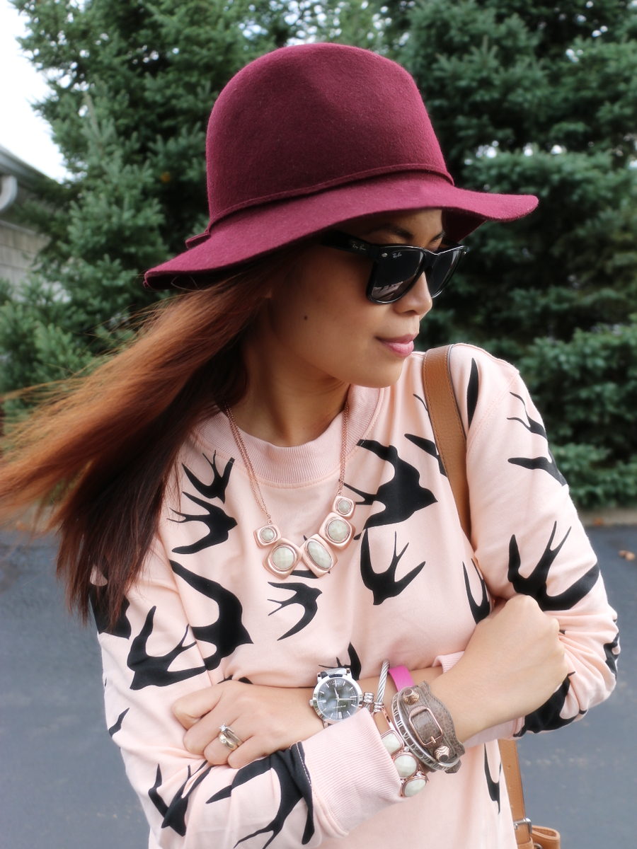 Sheinside, swallow sweater dress, fall fashion, fall trend, quirky sweater, novelty print sweater