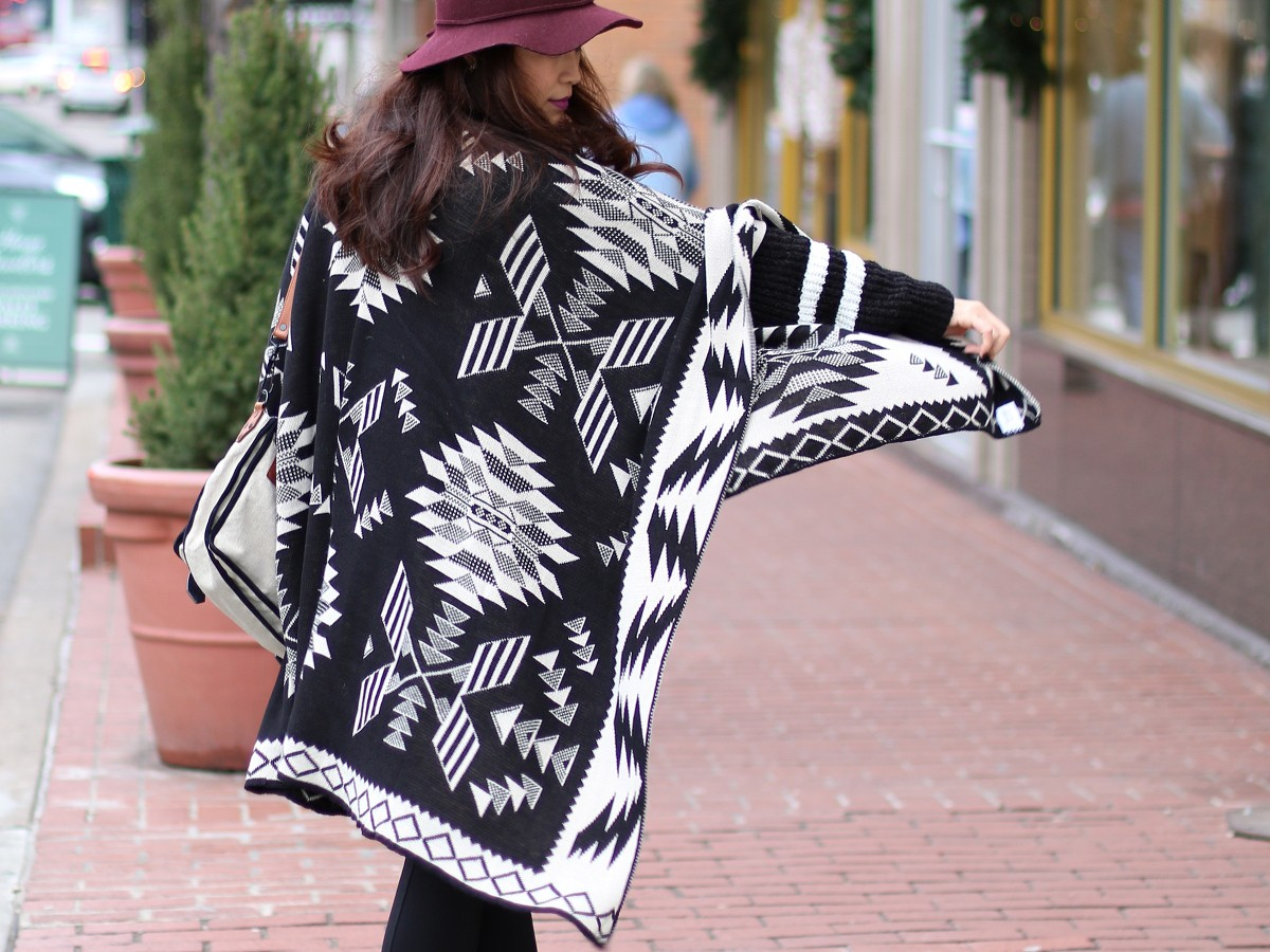 Boohoo, cape, outfit, poncho, fashion, style, #ootd