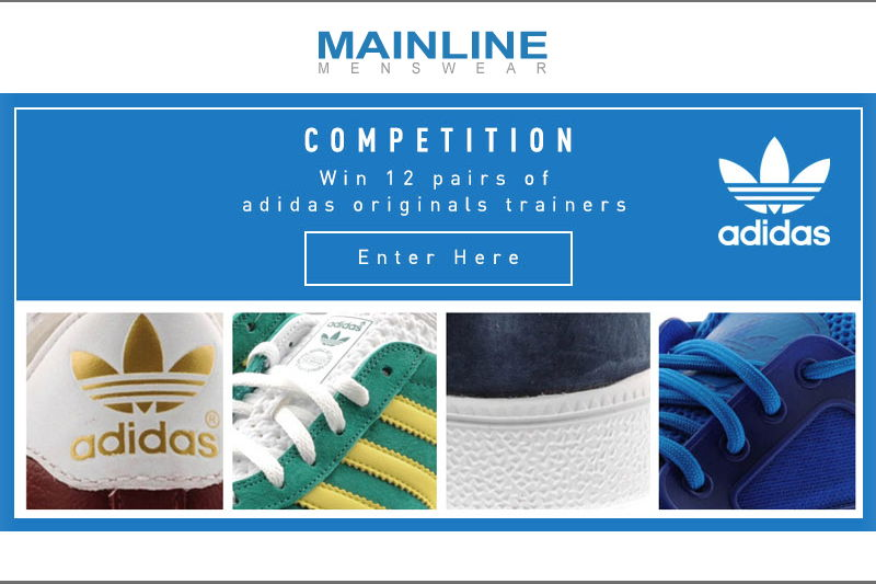 Mainline Menswear Adidas Giveaway, trainers, sneakers, shoes, contest, raffle
