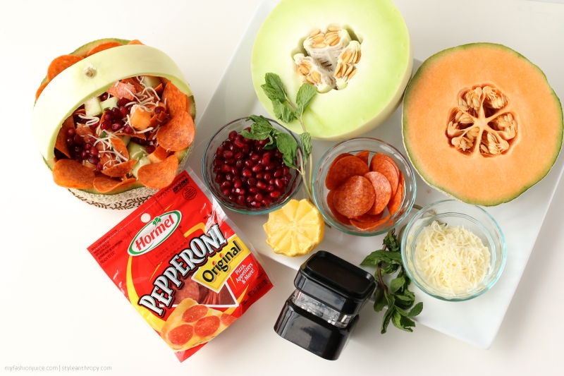Spring Salad with Hormel Pepperoni Recipe, sofab, #cbias, Collective Bias, food, appetizer, side dish, fruits, cheese, pepperoni