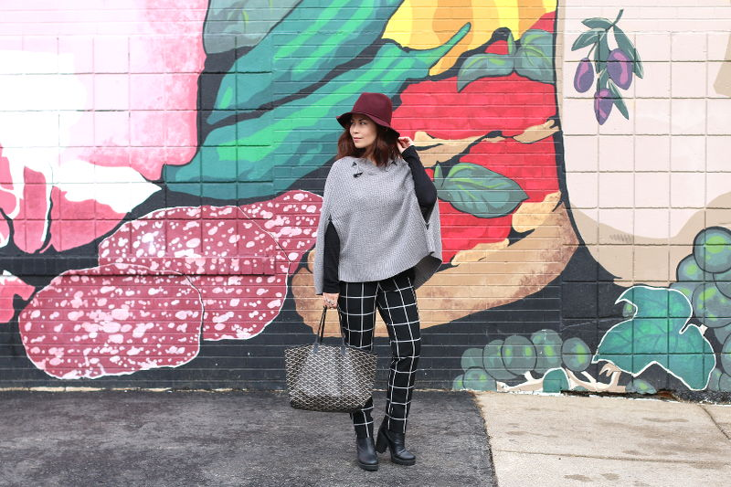 My Fashion Juice, outfit, ootd, fashion, style, window pane, cape