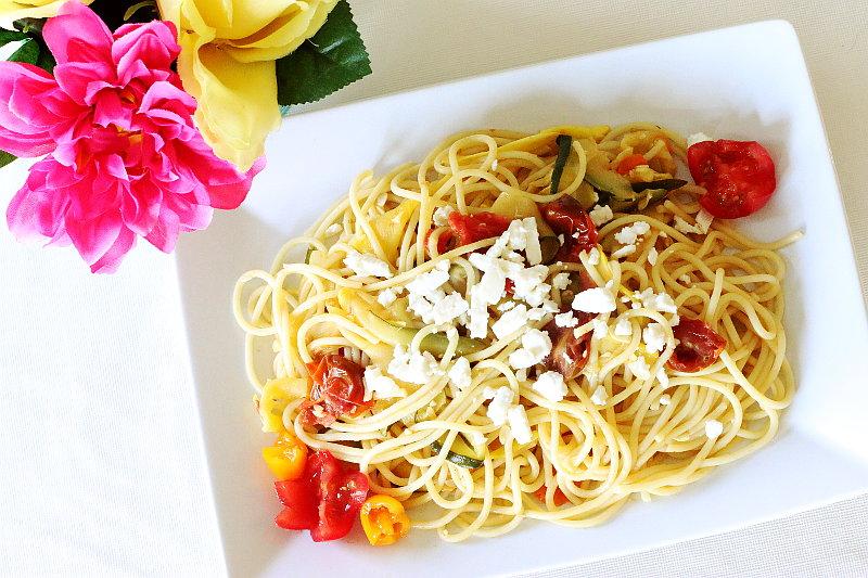Summer Pasta, recipe, zucchini, squash, noodles, sofab, cbias, shop
