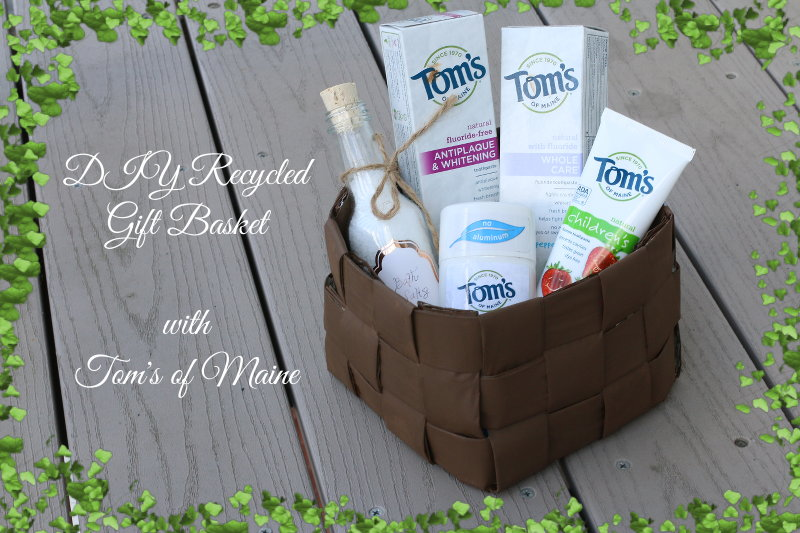 Recycled Gift Basket, Tom's Of Maine, hygiene products