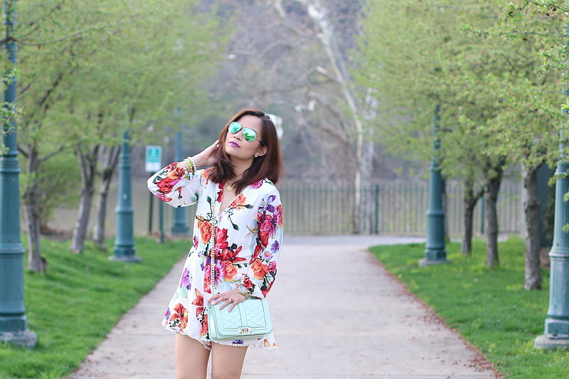 Zaful, floral romper, outfit, fashion, style