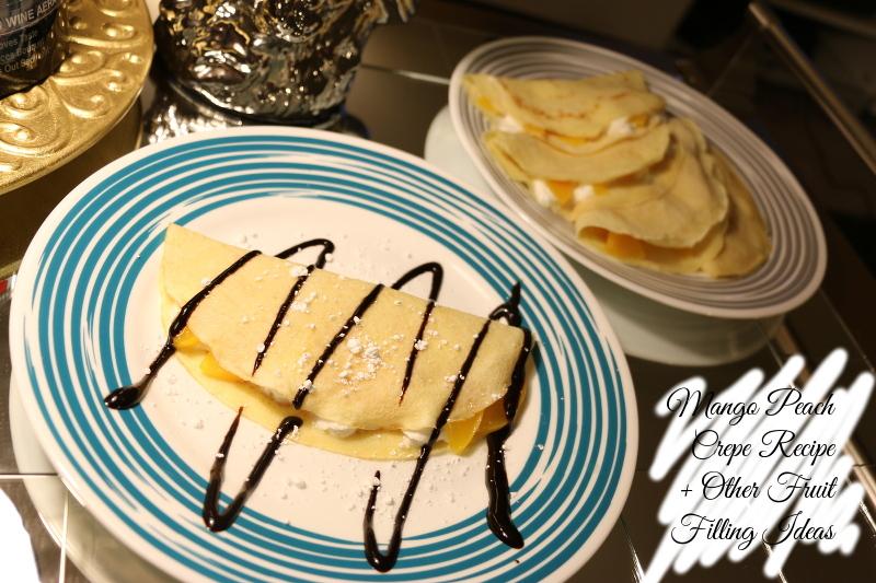 Peach Mango Crepe Recipe, dessert, sweets