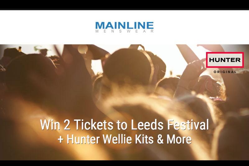 Hunter Boots Leeds Festival Giveaway, Mainline Menswear