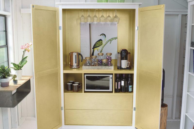 hidden refreshment station, shed, appliances, electronics, Best Buy