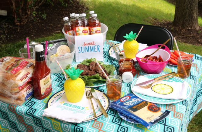 Summer of Grilling, Outdoor Entertaining, Giant Eagle, food, tablescape, summer party, grilling party