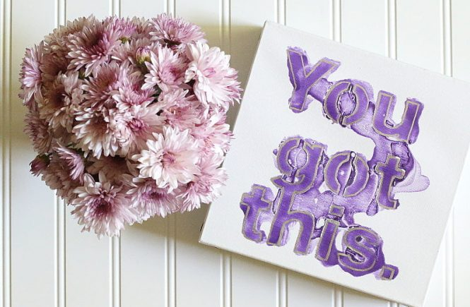 DIY Motivational Artwork Display, Flowers