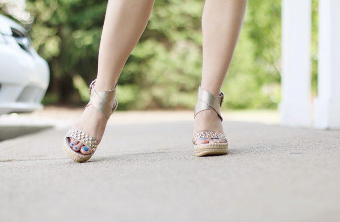 thredUp Stuart Weitzman espadrille wedge sandals, secondhand