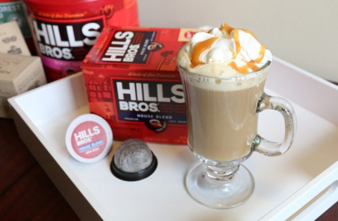 caramel coffee recipe, hills bros. coffee