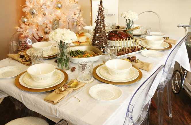 holiday dinner party, hosting, entertaining, tablescape