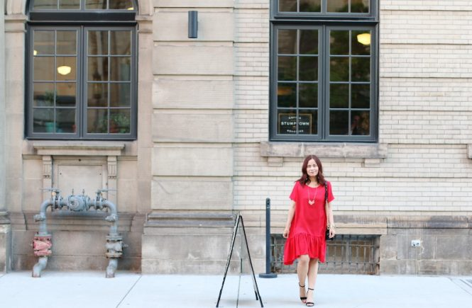 Romwe Red Ruffle Dress