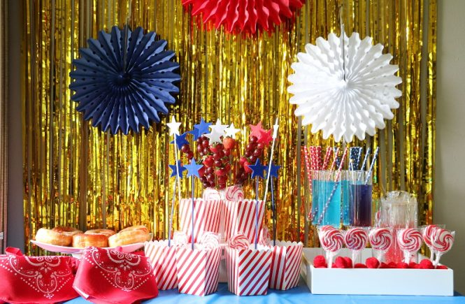 Fourth Of July Treats Dessert Bar