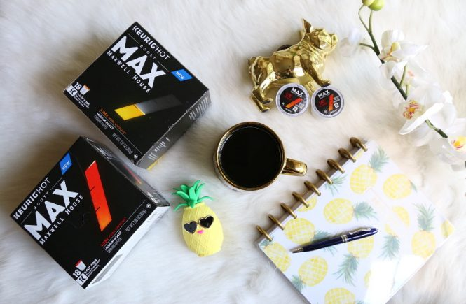 MAX Maxwell House Coffee, planner, pen, pineapple