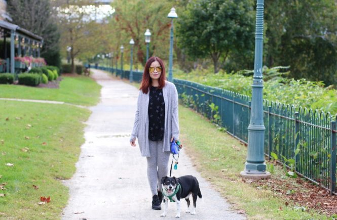 Cuddl Duds, loungewear, layers, fall, dog