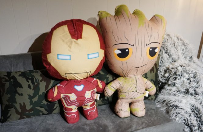 Marvel Avengers Infinity War Inflate-A-Heroes, Iron Man, Groot, toys