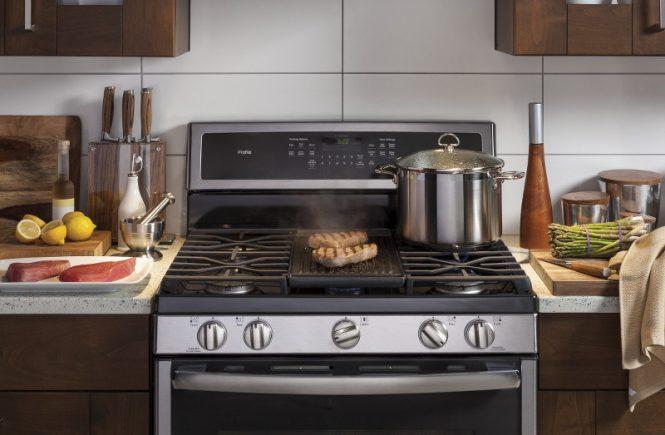 GE Appliances, kitchen appliance, stove